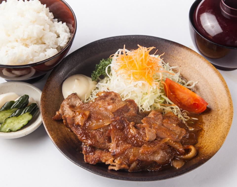紫峰もち豚の生姜焼き定食