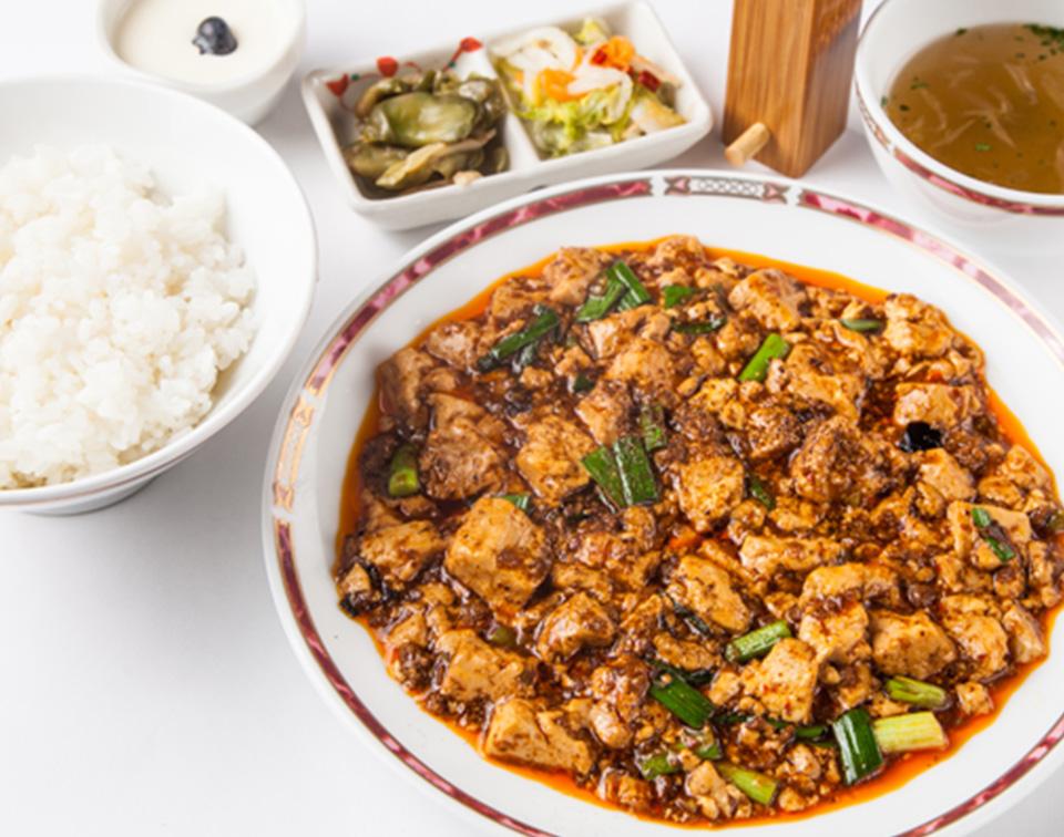 ハーフ四川麻婆豆腐セット